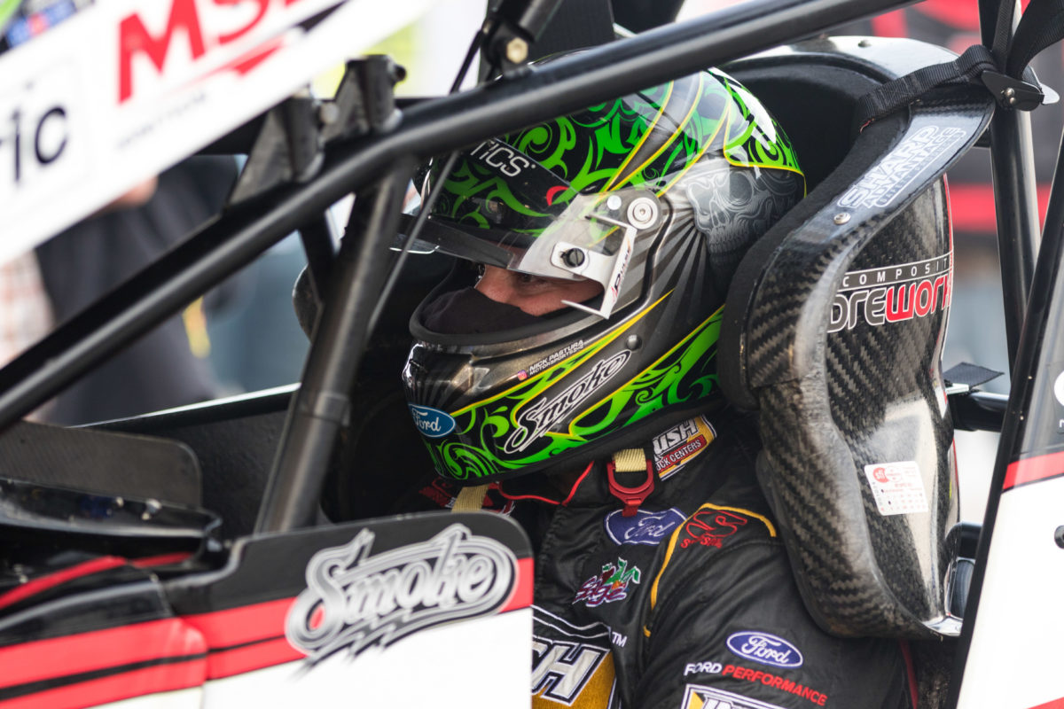 Tony Stewart fourth during Texas Sprint Car Nationals preliminary