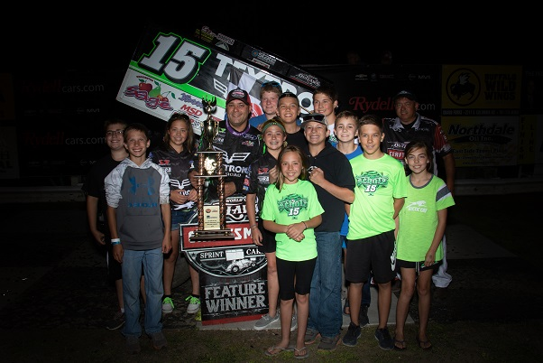 Donny Schatz earns victory and podium during two-race stretch in his home state