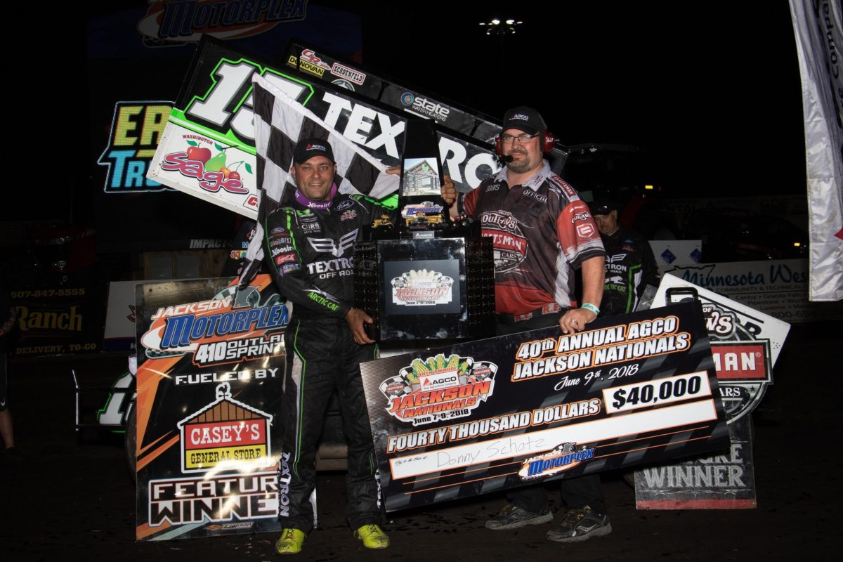 Donny Schatz caps visit to Jackson Motorplex with $40,000 Jackson Nationals victory