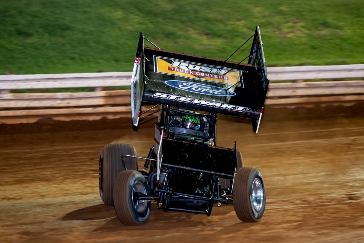 Smoke hard charges at Outlaw Speedway with All Stars