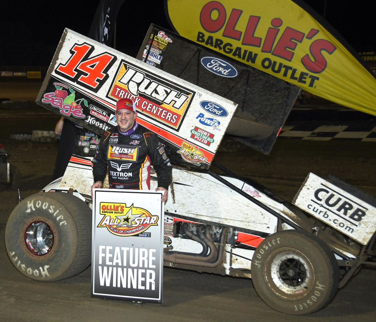 Tony Stewart victorious with All Stars during Bubba Raceway Park's Winter Nationals