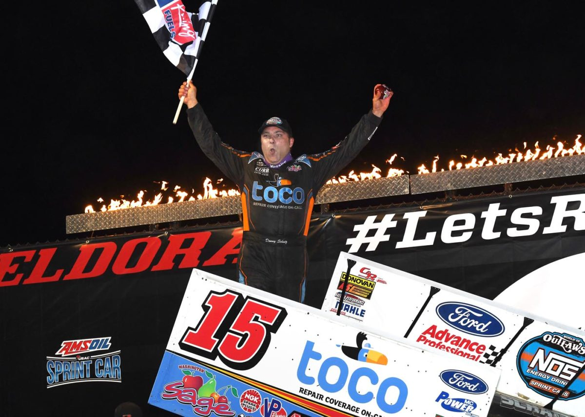 Donny Schatz conquers #LetsRaceTwo at Eldora, gains World of Outlaws point lead