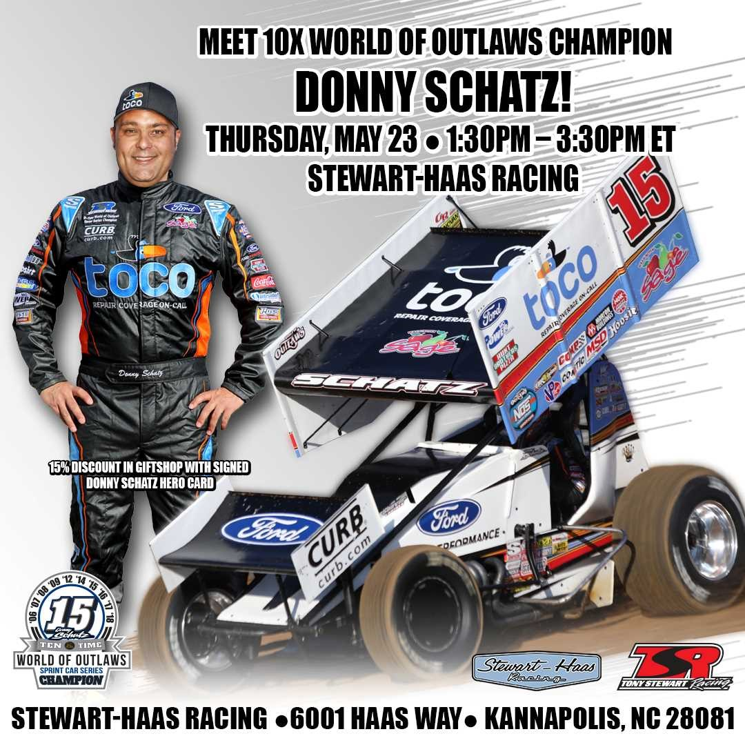 Donny Schatz Set To Appear at Stewart-Haas Racing