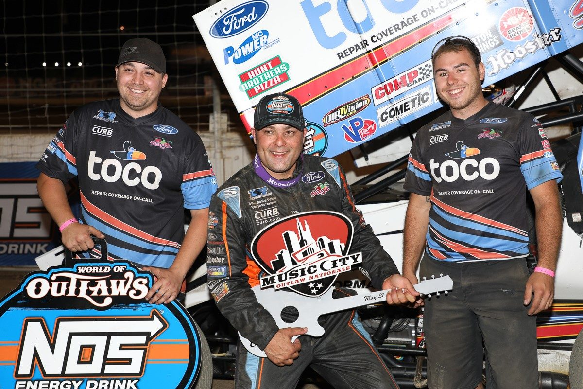 Donny Schatz gets third win of season during Nashville's Music City Outlaw Nationals