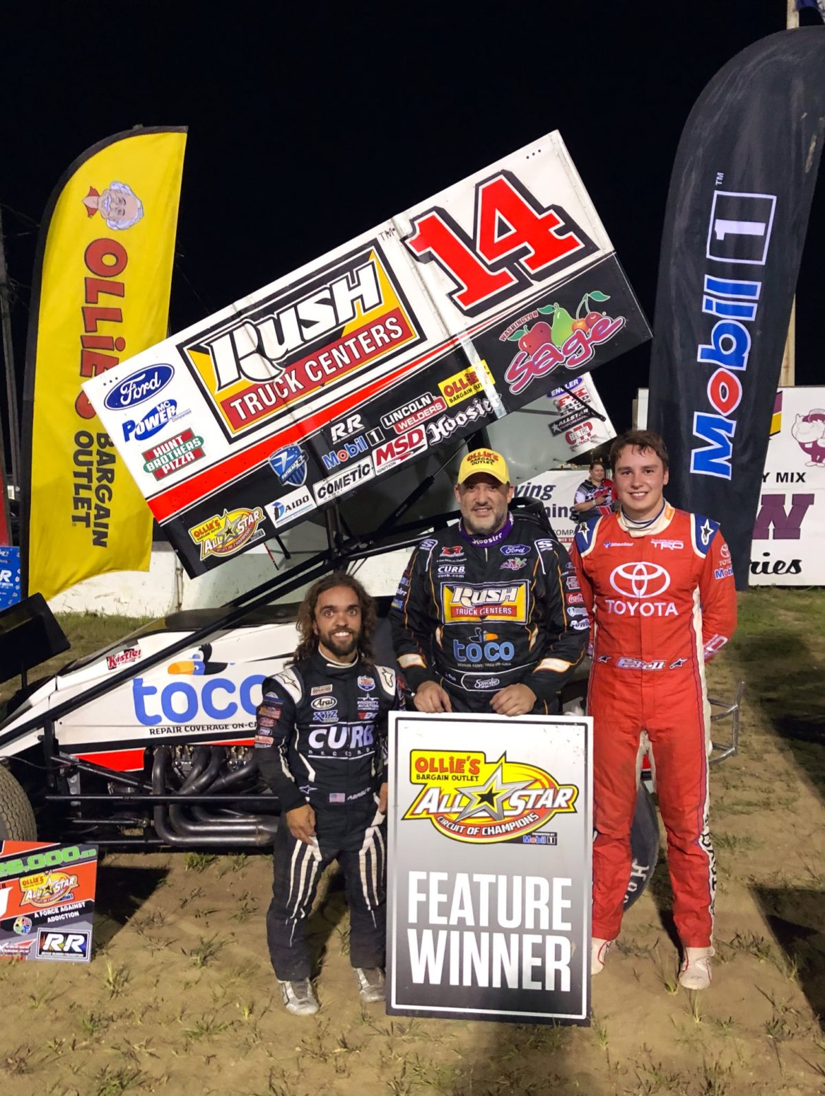 Tony Stewart caps five-race stint with Rayce Rudeen Foundation Race victory worth $26,000