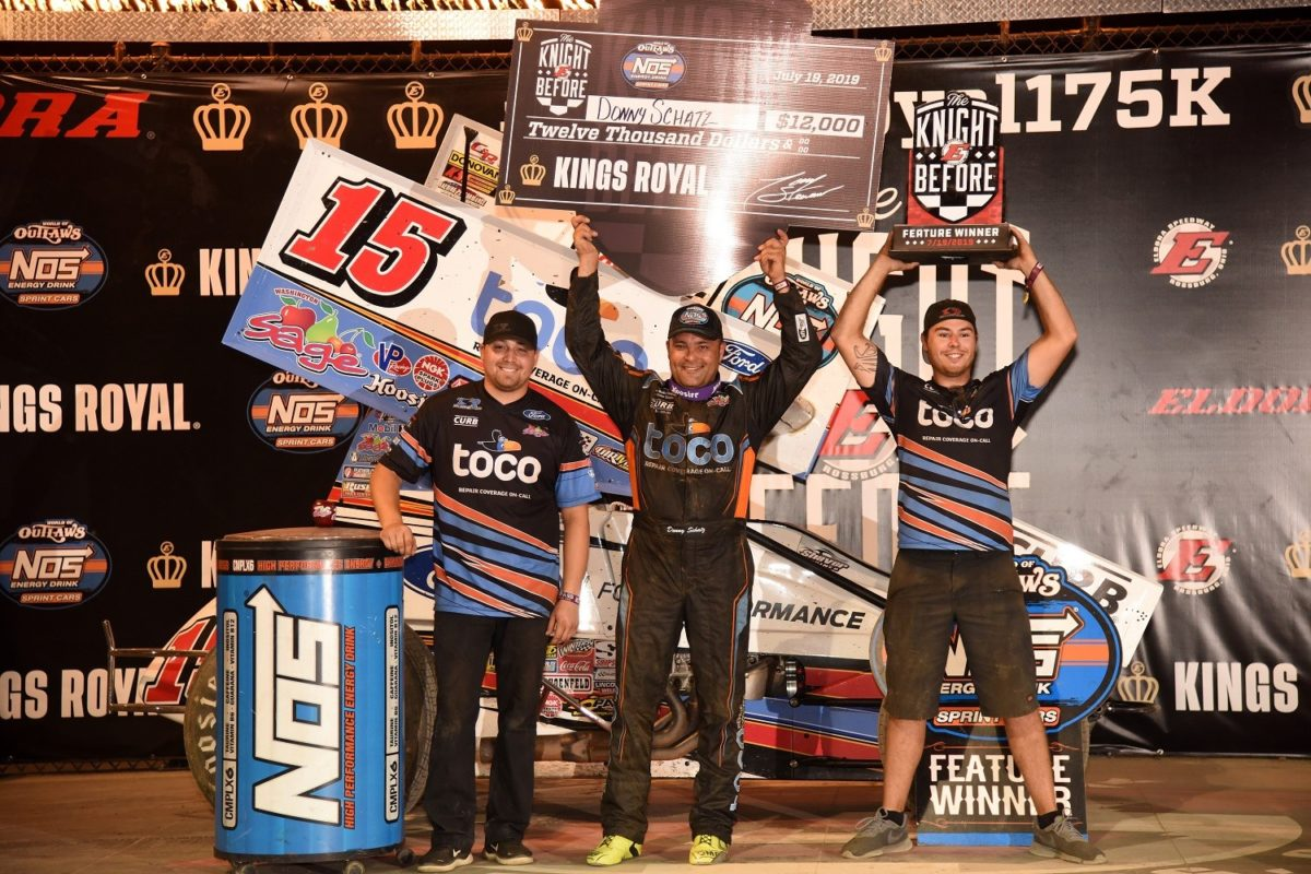 Schatz wins #LetsRaceTwo, Knight Before The Kings Royal; Lernerville and The Grove ahead