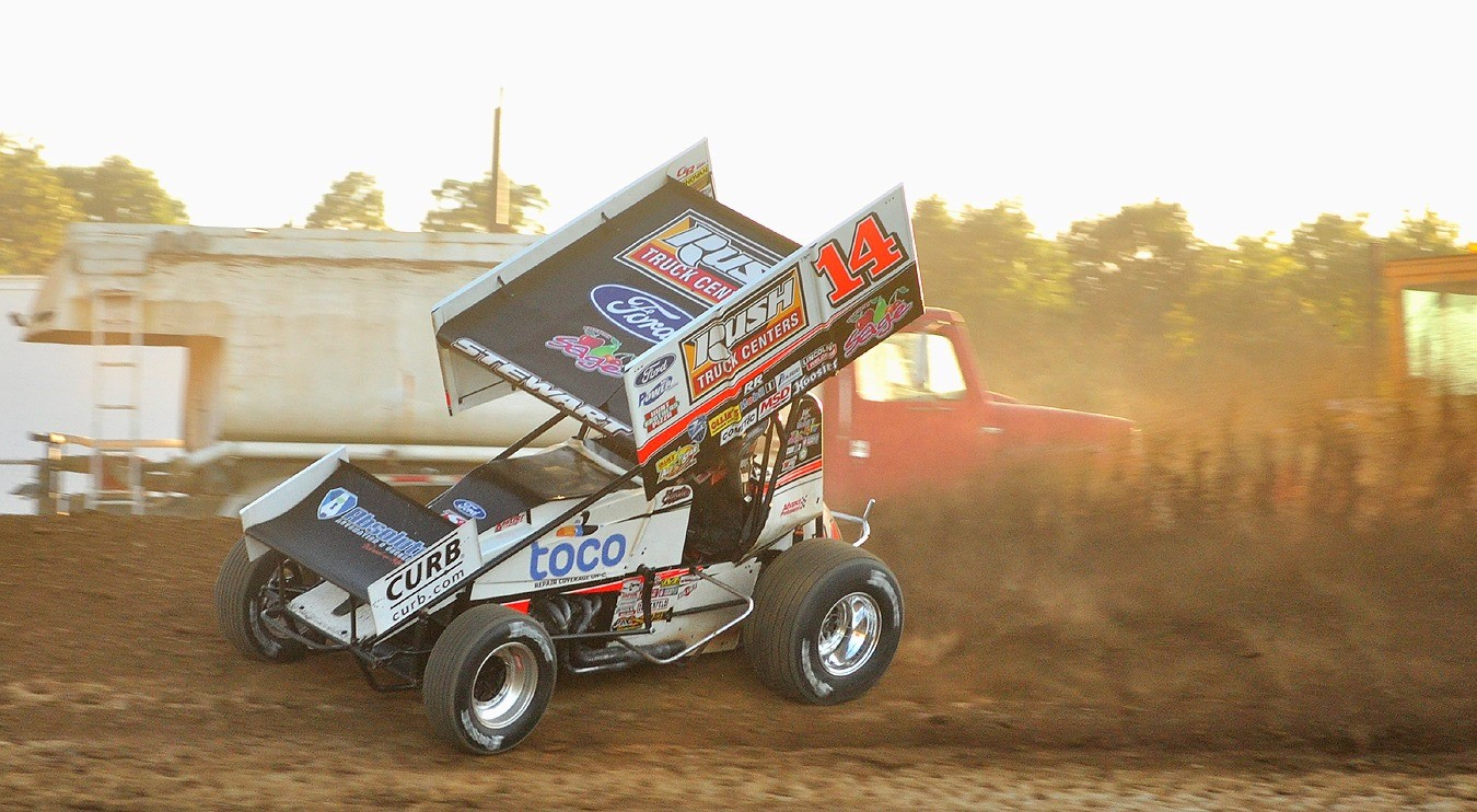 Tony Stewart and Tim Shaffer combine for trio of top-tens including podium at Atomic Speedway