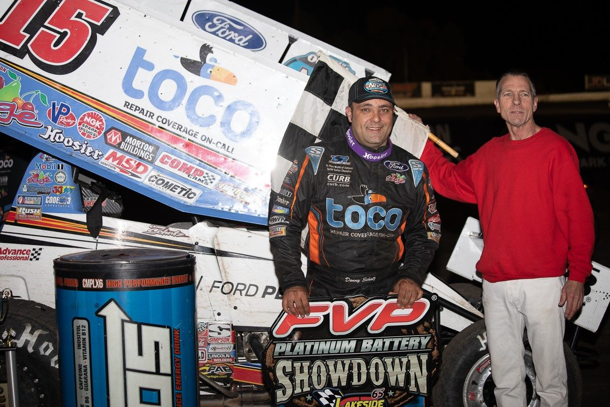 Donny Schatz drives Ford to World of Outlaws victory in Kansas City
