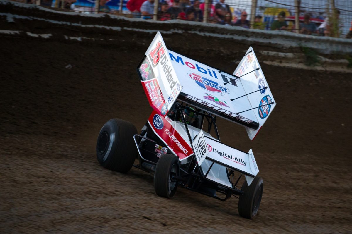 Donny Schatz rolls to a podium and top-ten in Dodge City