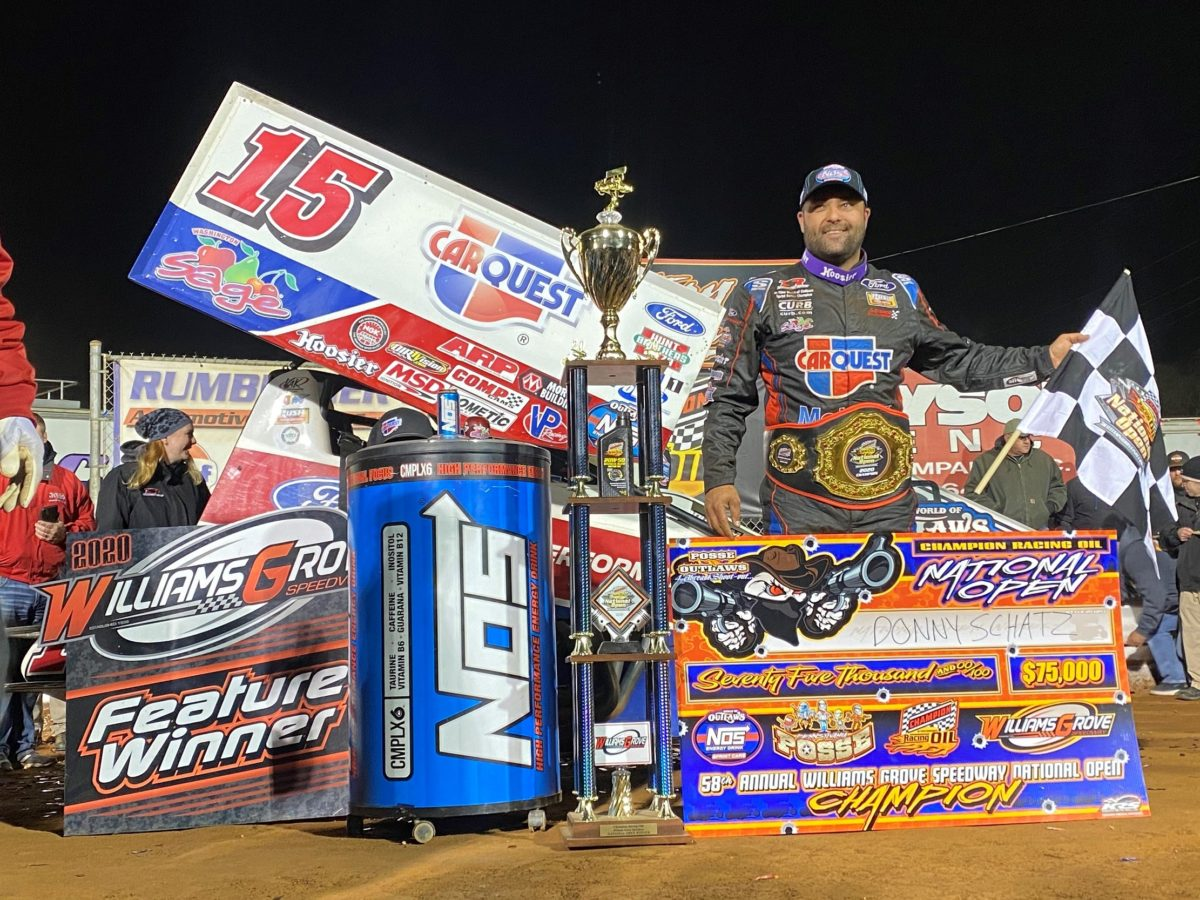Donny Schatz earns Williams Grove National Open crown for richest sprint car payday of 2020